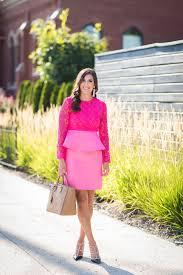 pink peplum dress a southern drawl