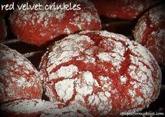 red velvet crinkle cookies from a cake mix so yummy and easy