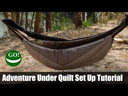 set up tutorial for the adventure under quilt we manufacture