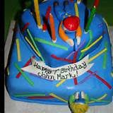 laser tag birthday cake idea 4476