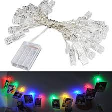 Battery Operated Outdoor Halloween Decorations by Amazon Com Accmor 16 4ft Led Photo Clip String Lights Battery