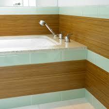 Bamboo Shower Floor Lovely Bathroom Glass Tile Home Renovations With Shower Door
