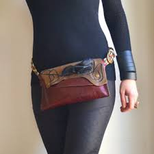 Upcycled Leather Bags - shop leather hip belt bag on wanelo