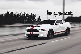 Black Mustang Red Stripes Ford Mustang Gt500 Shelby Muscle Car Ford Mustang White Muscle Car