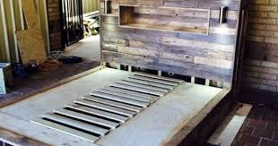 Headboard Made From Pallets Looks Nice Furniture Edge Community Furniture