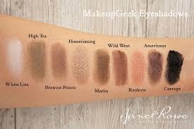 pan americano makeupgeek eyeshadows makeup geek swatches