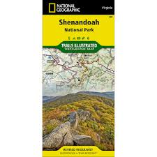 Skyline Drive Map Blue Ridge Parkway Destination Map National Geographic Store