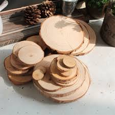 wood log slices christmas birthday baby shower rustic country