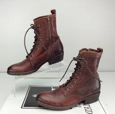 s lace up boots size 9 nwob frye carson lug lace up boots combat brown size 9