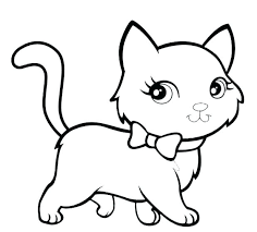coloring page of a kitty cat coloring page cat color pages printable cats coloring pages