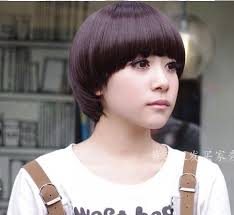 Mushroom Hairstyle Free Shipping Full Lace Wigs Mushroom Hairstyle Synthetic Wig Heat