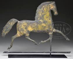 Maine Weathervanes Black Hawk Full Body Copper Horse Weathervane