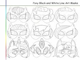 coloring pages pony party printable black holidaypartystar