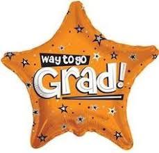 white way to go grad star balloon congratulations graduate and