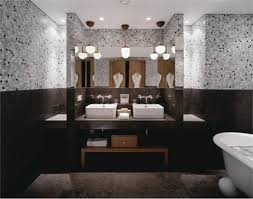 bathroom pretty classic guest idea with brick shower bathroom pretty classic guest idea with brick shower wall and pedestal sink splendid dark
