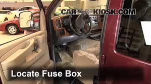 interior fuse box location 1996 2014 chevrolet express 1500