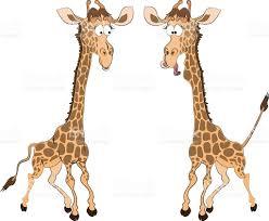 caricature of two fun giraffes stock vector art 512287236 istock