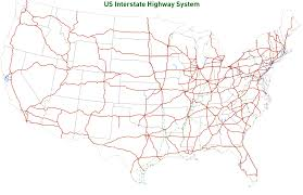 map us interstate system map of the united states