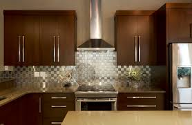 Brown Cabinet Kitchen Easy Install Stainless Steel Backsplash Stainless Steel Blog
