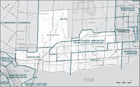 Hamilton Canada Map Final Report U2013 Ontario Redistribution Federal Electoral Districts