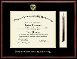 tassel frame virginia commonwealth tassel edition diploma frame in