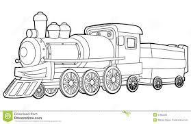 cheerful polar express train coloring pages old train