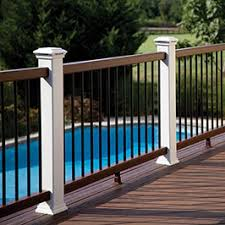 Outdoor Banisters And Railings Deck Railing Systems Metal Composite Vinyl Glass Cable