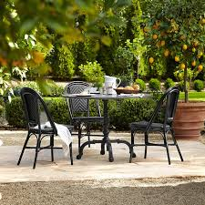 Patio Dining Table La Coupole Indoor Outdoor Dining Table Round Black Granite Top