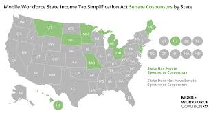 State Income Tax Map by Blog U2014 Mobile Workforce Coalition