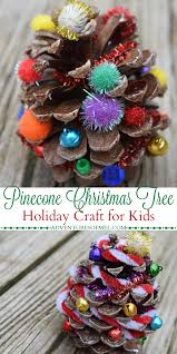 pinecone christmas tree holiday craft for kids pinecone