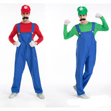 super mario brothers masquerade costume cosplay for men