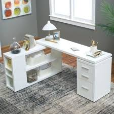 L Shaped Computer Desk Plans White U Shaped Workstation W Hutch Pertaining To Popular House L