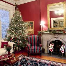 kitchen christmas tree ideas living room allegheny west home decorated in toned down natural