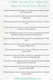 12 bible verses tame mouth