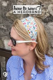fabric headband headband sewing pattern made from liberty of london fabric