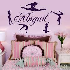personalized name gymnasts vinyl wall decal gymnastics dance personalized name gymnasts vinyl wall decal gymnastics dance decor