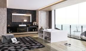Designer Bathroom Wallpaper Interior Design Style Sea House Yacht Luxury Beauty Tub Bathroom