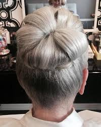 updos for older women with long hair 40 stylish long hairstyles for older women gray hair high bun