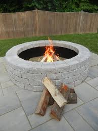 fire pit bricks for backyard design and ideas
