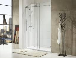 Single Frameless Shower Door Republic Trident 60 X 76 Single Sliding Frameless
