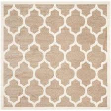 Square Indoor Outdoor Rugs Beige Square Outdoor Rugs Rugs The Home Depot