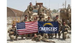 San Diego Chargers Flag Two Army Soldiers Rip Chargers For Cropping U0027san Diego U0027 From Photo