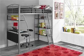 Bunk Bed With Shelves Dhp Furniture Studio Loft Bed