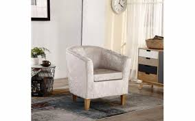 Cream Velvet Sofa Cream Velvet Tub Chair Luxury Living Room Furniture Single Sofa