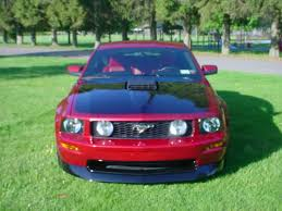 Mustang Red And Black Red Fire Mustang With Black Racing Stripes The Mustang Source
