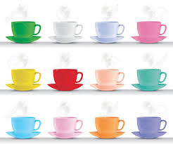 espresso coffee clipart set of different coloured italian espresso coffee cups royalty