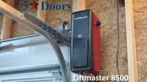 master lift garage door openers liftmaster 8500 residential jack shaft garage door opener youtube