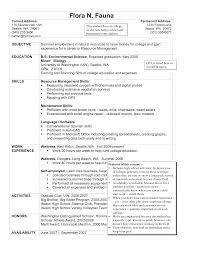 Summer Job Resume No Experience by Housekeeper Cover Letter Splixioo