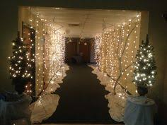 winter entrance for our ornament exchange