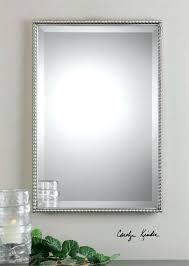 framed bathroom mirrors brushed nickel brushed nickel framed wall mirror mirrors 1 mirror design